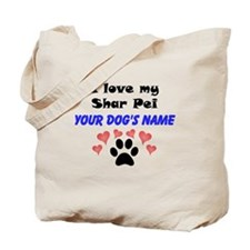 Custom I Love My Shar Pei Tote Bag