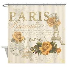 Vintage Paris Shower Curtain