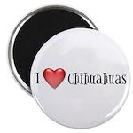 I Heart Chihuahuas Magnet