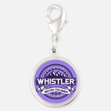 Whistler Violet Silver Round Charm