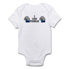 I Love Sweater Poodles Infant Bodysuit