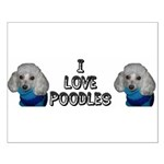 I Love Sweater Poodles Small Poster