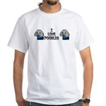 I Love Sweater Poodles White T-Shirt