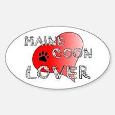 Maine Coon cat lover Oval Decal
