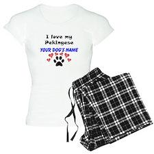 Custom I Love My Pekingese Pajamas