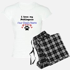 Custom I Love My Pekingese Pajamas