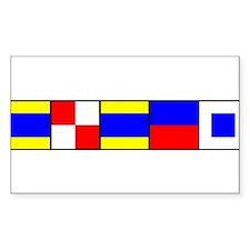 DUDES Flag Decal