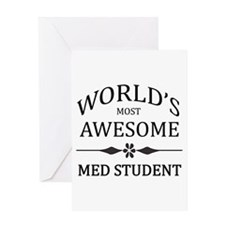 World's Most Awesome Medical Student Greeting Card