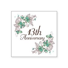 "13th Anniversary Keepsake Square Sticker 3"" x 3"""