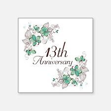 "13th Anniversary Keepsake Square Sticker 3"" x 3"""