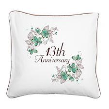 13th Anniversary Keepsake Square Canvas Pillow