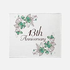 13th Anniversary Keepsake Throw Blanket