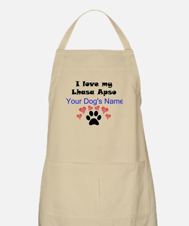 Custom I Love My Lhasa Apso Apron