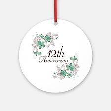 12th Anniversary Keepsake Ornament (Round)