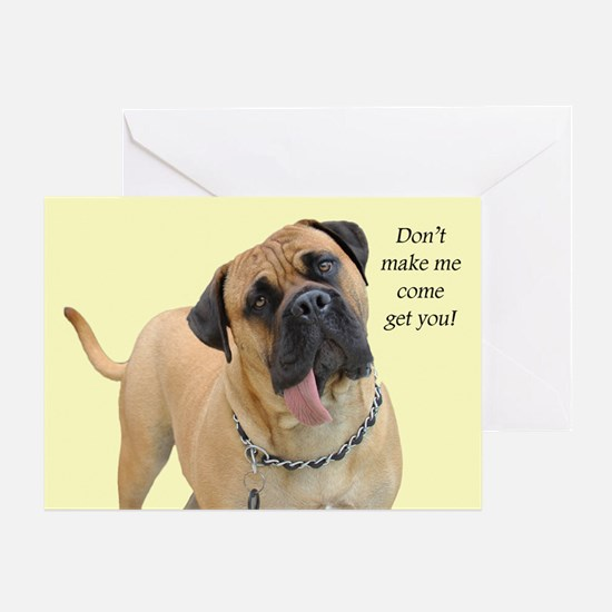 Mastiff Birthday Card Greeting Card