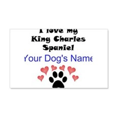 Custom I Love My King Charles Spaniel Wall Decal