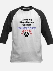 Custom I Love My King Charles Spaniel Baseball Jer