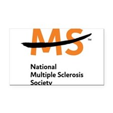 National MS Society Rectangle Car Magnet