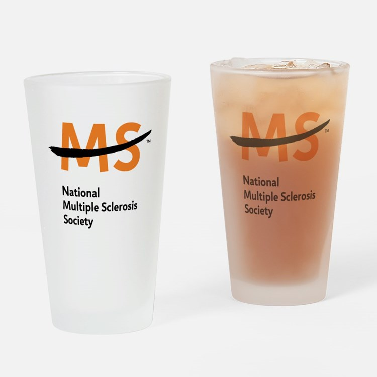 National MS Society Drinking Glass