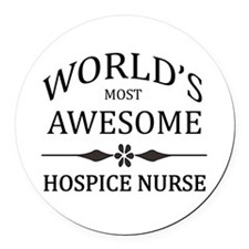 World's Most Awesome Hospice Nurse Round Car Magne