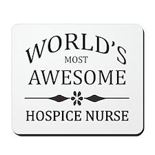 World's Most Awesome Hospice Nurse Mousepad