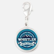 Whistler Ice Silver Round Charm