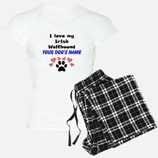 Custom I Love My Irish Wolfhound Pajamas