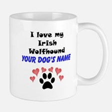 Custom I Love My Irish Wolfhound Small Small Mug