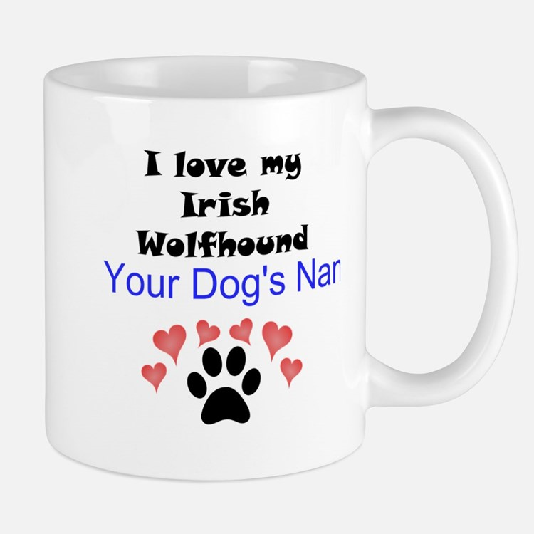 Custom I Love My Irish Wolfhound Small Small Mug