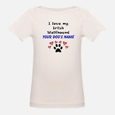 Custom I Love My Irish Wolfhound T-Shirt