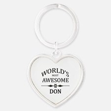 World's Most Awesome DON Heart Keychain