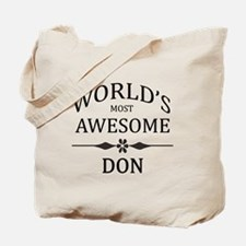World's Most Awesome DON Tote Bag