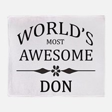 World's Most Awesome DON Throw Blanket
