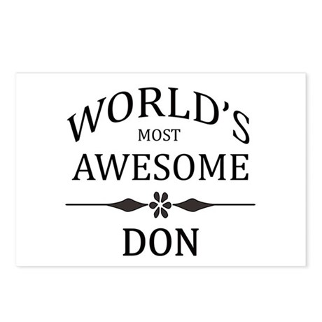 World's Most Awesome DON Postcards (Package of 8)