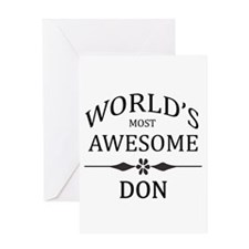 World's Most Awesome DON Greeting Card