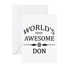 World's Most Awesome DON Greeting Cards (Pk of 20)