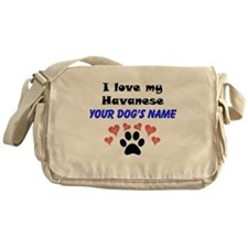 Custom I Love My Havanese Messenger Bag