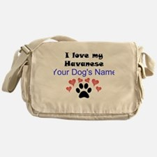 Custom I Love My Havanese Messenger Bag