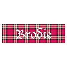 Tartan - Brodie Bumper Sticker