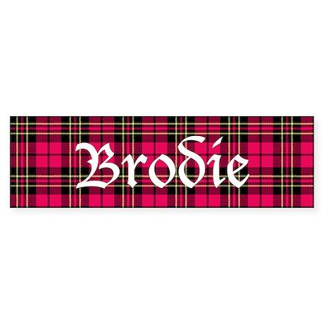 Tartan - Brodie Sticker (Bumper)