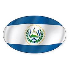 Pure Flag of El Salvador Oval Decal