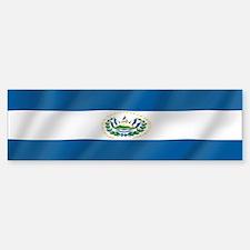 Pure Flag of El Salvador Bumper Bumper Bumper Sticker