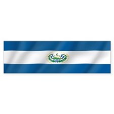 Pure Flag of El Salvador Bumper Bumper Sticker