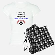 Custom I Love My German Shepherd Pajamas