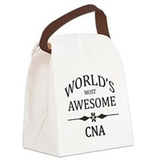World's Most Awesome CNA Canvas Lunch Bag