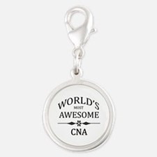 World's Most Awesome CNA Silver Round Charm