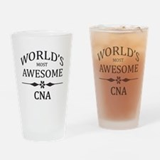 World's Most Awesome CNA Drinking Glass