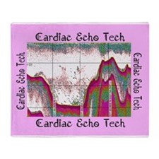 cardiac echo tech 4 Throw Blanket
