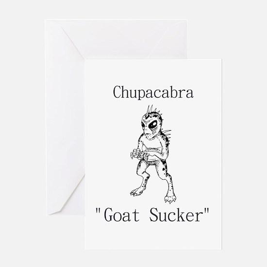 Chupacabra Goat Sucker Greeting Card
