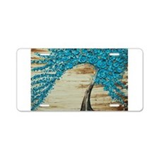 The Water Blossom Tree Aluminum License Plate